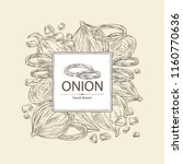 background with onion  rings ... | Shutterstock .eps vector #1160770636