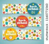 back to school horizontal... | Shutterstock .eps vector #1160771560