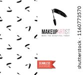 makeup artist promo card flyer. ... | Shutterstock .eps vector #1160773570