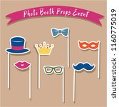 photo booth props event   Shutterstock .eps vector #1160775019