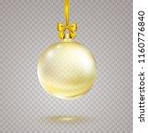 christmas ball with golden... | Shutterstock .eps vector #1160776840