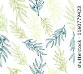vector eucalyptus hand drawn... | Shutterstock .eps vector #1160779423