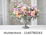 gorgeous bouquet of different... | Shutterstock . vector #1160780263