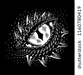monochrome dragon eye. concept... | Shutterstock .eps vector #1160780419