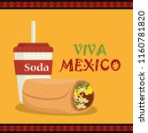burrito mexican traditional... | Shutterstock .eps vector #1160781820
