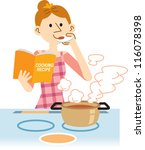 housewife | Shutterstock .eps vector #116078398