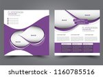 square flyer template. simple... | Shutterstock .eps vector #1160785516