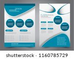 abstract flyer template....   Shutterstock .eps vector #1160785729