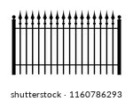 vintage iron fence with... | Shutterstock .eps vector #1160786293