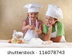 Kids With Chef Hats Preparing...