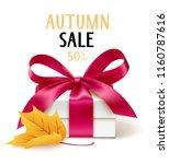 autumn sale template design.... | Shutterstock .eps vector #1160787616