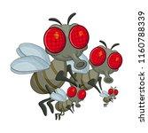 fly family cartoon character... | Shutterstock .eps vector #1160788339