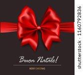 buon natale   merry christmas... | Shutterstock .eps vector #1160792836