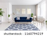 real photo of bright living... | Shutterstock . vector #1160794219