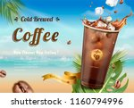cold brew coffee ads on summer... | Shutterstock .eps vector #1160794996