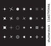 stars sparkles sign symbol set. ... | Shutterstock .eps vector #1160795446