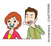 man talking about some... | Shutterstock .eps vector #1160795989