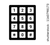 number pad or numeric telephone ... | Shutterstock .eps vector #1160798173