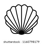 seashell shell   shellfish or... | Shutterstock .eps vector #1160798179