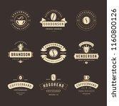 coffee shop logos design... | Shutterstock .eps vector #1160800126