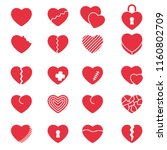 set of simple icons hearts for... | Shutterstock .eps vector #1160802709