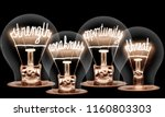 photo of light bulbs with... | Shutterstock . vector #1160803303