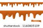 caramel flows. seamless pattern.... | Shutterstock .eps vector #1160805109