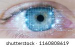 macro eye with high technology... | Shutterstock . vector #1160808619