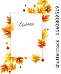 autumn background with empty... | Shutterstock .eps vector #1160809519