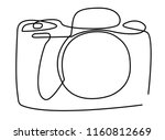 continuous line art or one line ... | Shutterstock .eps vector #1160812669