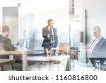 trough glass window view of... | Shutterstock . vector #1160816800