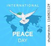 international day of peace....   Shutterstock .eps vector #1160821129