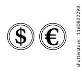 icon of stack of coins. thin...   Shutterstock .eps vector #1160822293