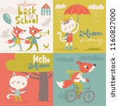 set of four vector flat vintage ... | Shutterstock .eps vector #1160827000
