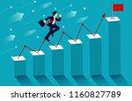 businessmen run on up the bar... | Shutterstock .eps vector #1160827789