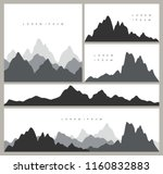 set of mountain silhouettes... | Shutterstock .eps vector #1160832883