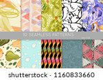 collection of seamless patterns.... | Shutterstock .eps vector #1160833660