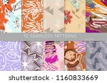 collection of seamless patterns.... | Shutterstock .eps vector #1160833669