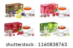 tea packaging vector realistic... | Shutterstock .eps vector #1160838763