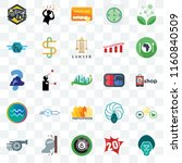 set of 25 transparent icons... | Shutterstock .eps vector #1160840509