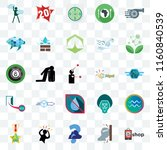 set of 25 transparent icons... | Shutterstock .eps vector #1160840539