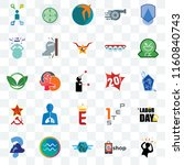 set of 25 transparent icons... | Shutterstock .eps vector #1160840743