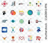 set of 25 transparent icons... | Shutterstock .eps vector #1160841496