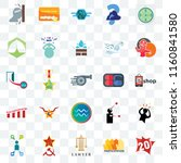 set of 25 transparent icons... | Shutterstock .eps vector #1160841580