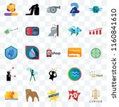 set of 25 transparent icons... | Shutterstock .eps vector #1160841610
