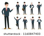 businessman working character... | Shutterstock .eps vector #1160847403