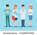 group of doctor character in... | Shutterstock .eps vector #1160847406