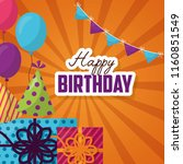 happy birthday card | Shutterstock .eps vector #1160851549