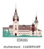peles castle in romania.... | Shutterstock .eps vector #1160854189