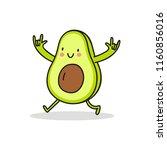 cool cartoon avocado | Shutterstock .eps vector #1160856016